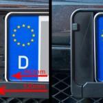 Kennzeichenblenden für kurze Nummernschilder aus dem 3D Drucker